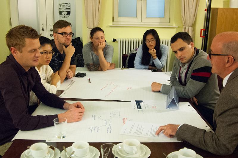 Die Diskussionsrunde zu den Webwissenschaften, moderiert von Johann Mittendorfer
